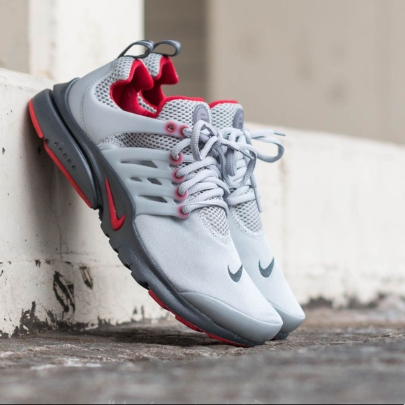 official photos 7e1ef 7f2fe 🔥New🔥 Rare Nike Air Presto Grey Red 5Y 6.5W